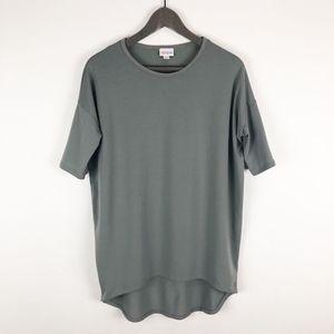 LuLaRoe Solid Gray Irma Top Size XXS